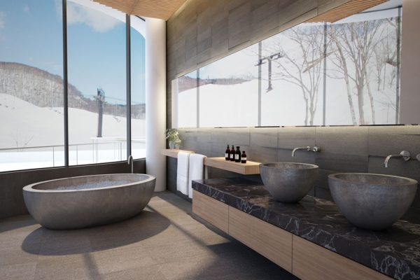Skye Niseko Penthouse En-Suite Bathtub with View | Upper Hirafu Village