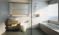 Skye Niseko Penthouse Bathroom with Bathtub | Upper Hirafu Village
