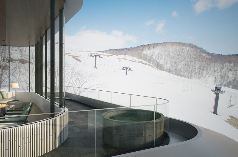 Skye Niseko Penthouse Balcony View | Upper Hirafu Village