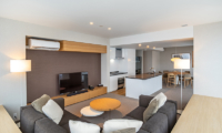 The Maples Niseko 19 Three Bedroom Yotei Resort Living Area with TV | Upper Hirafu