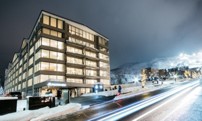 The Maples Niseko Exterior at Night | Upper Hirafu