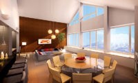 The Maples Niseko Living and Dining Area with Mountain View   Upper Hirafu
