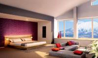 The Maples Niseko Bedroom with Sofa   Upper Hirafu