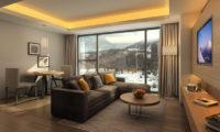 The Vale Rusutsu TV Room with Mountain View | Rusutsu