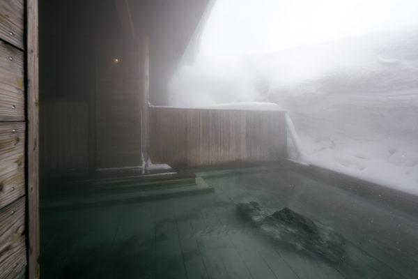 Niseko Goshiki Onsen Main Bath Rock