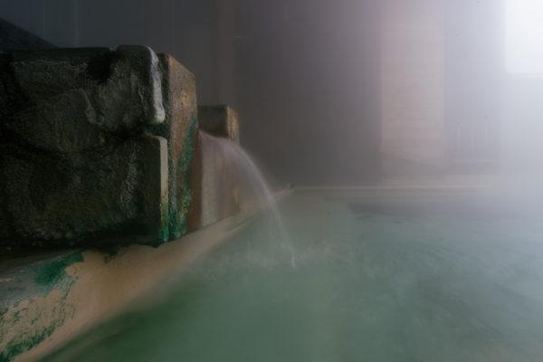 Niseko Goshiki Onsen spring fountain