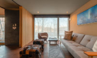 Hideaway on Escarpment Bedroom Lounge to view | Lower Hirafu