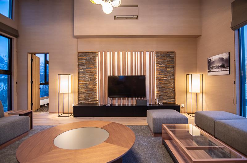 Panorama Niseko TV Room with Seating Area | East Hirafu