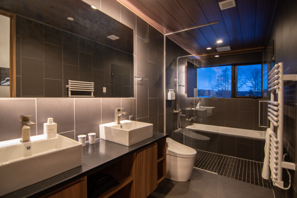 Panorama Niseko His and Hers Bathroom | East Hirafu