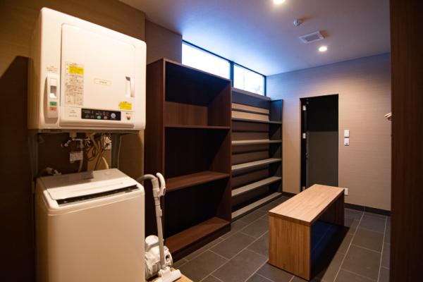 Panorama Niseko Laundry Room with Seating Area | East Hirafu