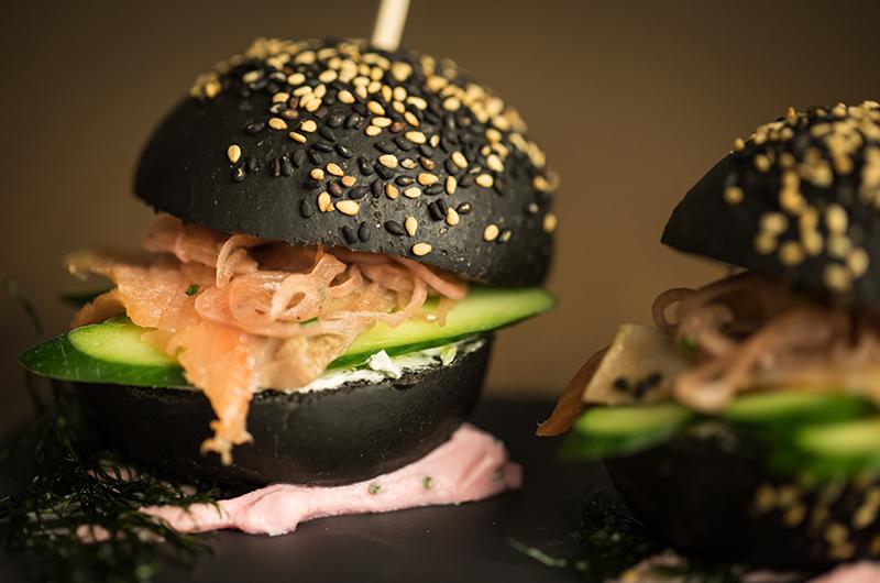 Wine & Dine Raphael Salmon Burger | Moiwa