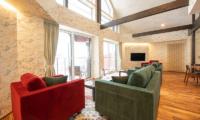 Kitsune House Living Area with TV | Lower Hirafu
