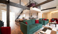 Kitsune House Living and Dining Area with Up Stairs | Lower Hirafu