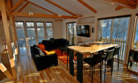 Casi 67 East Living and Dining Area with Wooden Floor | Lower Hirafu
