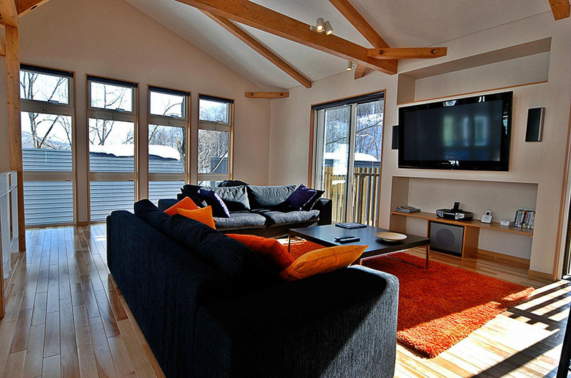 Casi 67 East Lounge Area with TV | Lower Hirafu