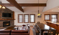 Ishi Couloir C Living and Dining Area with TV | East Hirafu