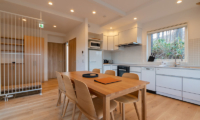 Komorebi Chalet Kitchen and Dining Area with Window | East Hirafu