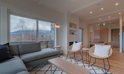 Komorebi Chalet Seating Area | East Hirafu