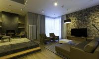 Mizunara Lounge Area with TV | Lower Hirafu