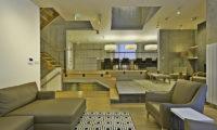 Mizunara Lounge Area with Wooden Floor | Lower Hirafu