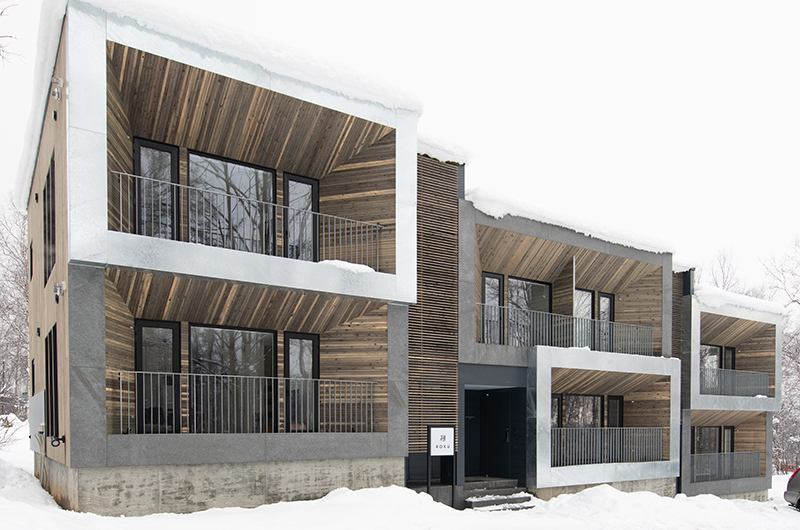 Roku Exterior with Snow | West Hirafu