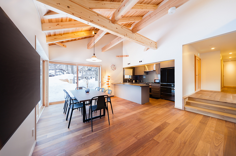 Asagiri Chalet Kitchen and Dining Area | Upper Wadano