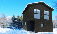 Mizuho Chalets Exterior with Snow | Happo Village