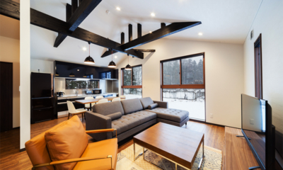 Mizuho Chalets Living, Kitchen and Dining Area | Happo Village