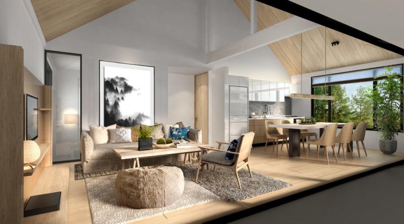 Koa Niseko Living and Dining Area | Higashiyama