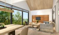 Koa Niseko Living and Dining Area with TV | Higashiyama