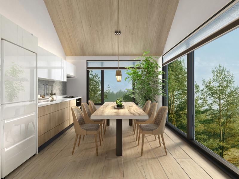 Koa Niseko Kitchen and Dining Area with View | Higashiyama