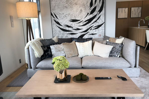 Koa Niseko Sofa with Cushions | Higashiyama
