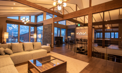 Panorama Niseko Living Area with Wooden Floor | East Hirafu
