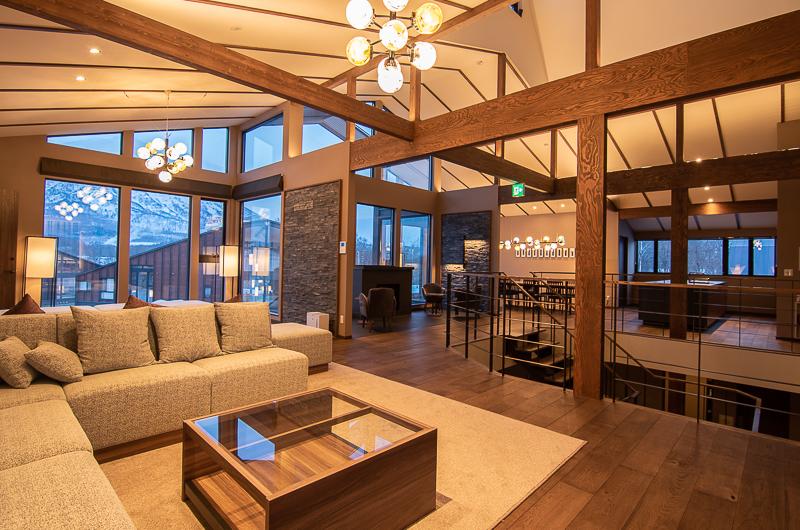 Panorama Niseko Living Area with Wooden Floor | East Hirafu
