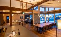 Panorama Niseko Indoor Living and Dining Area with Wooden Floor | East Hirafu