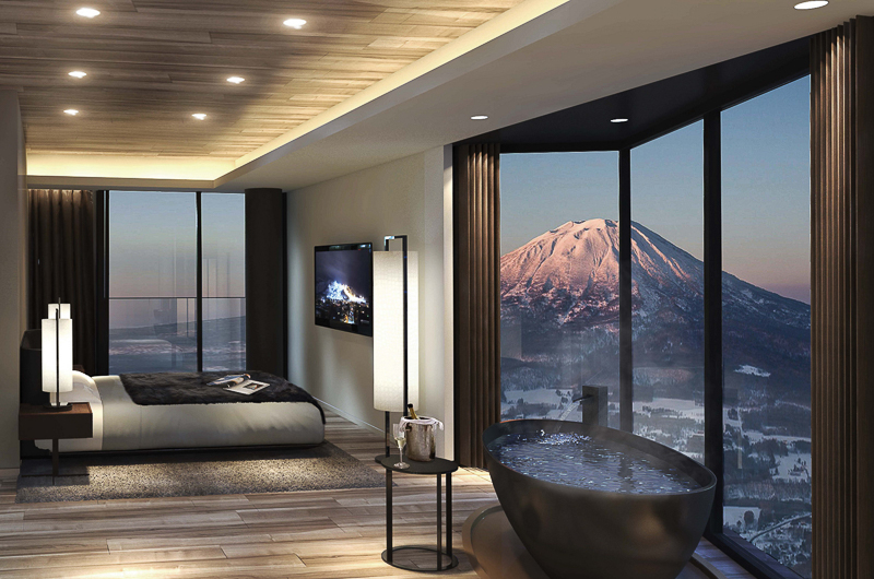 Tellus Niseko Bedroom with Mountain View | Upper Hirafu