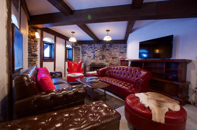 Chalet Hakuba Lounge Area with TV   Upper Wadano
