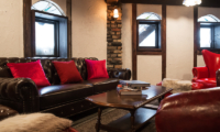 Chalet Hakuba Living Area with Center Table   Upper Wadano