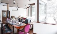 Chalet Hakuba Dining Area with Crockery   Upper Wadano