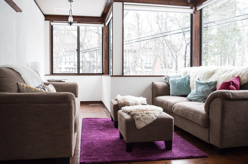 Chalet Hakuba Lounge Area with View   Upper Wadano