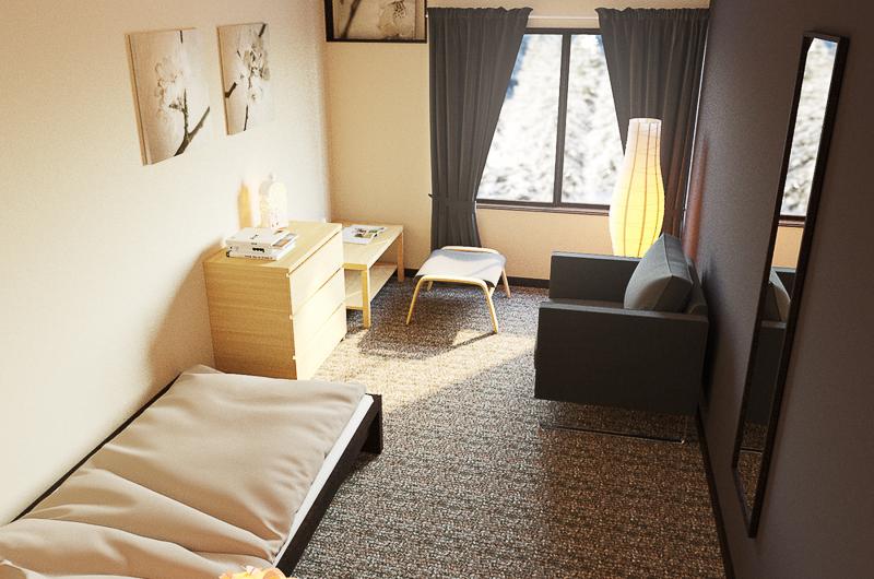 Chalet Hakuba Single Bed with Seating Area | Upper Wadano