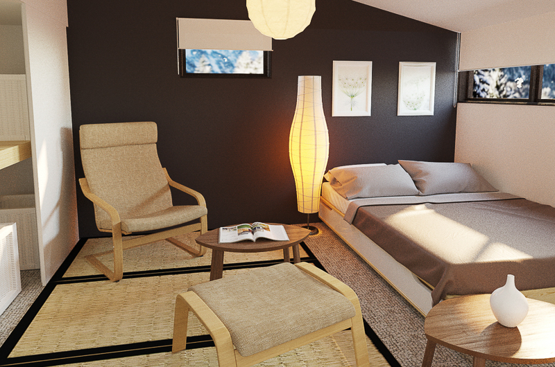 Chalet Hakuba Room with Chair   Upper Wadano