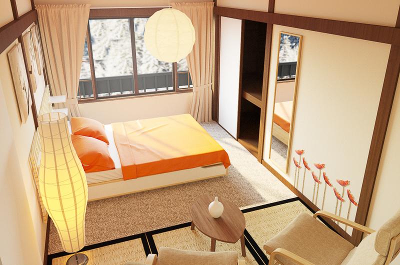 Chalet Hakuba Bedroom with View   Upper Wadano
