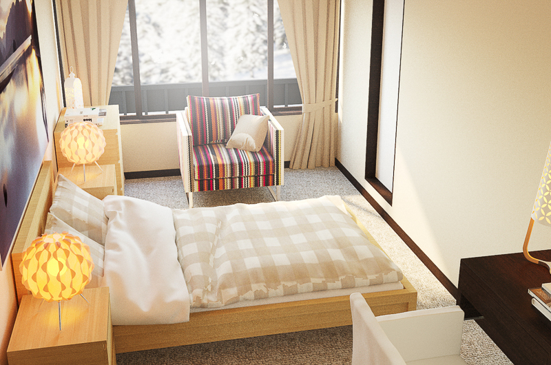 Chalet Hakuba Room with Study Table and Chair | Upper Wadano