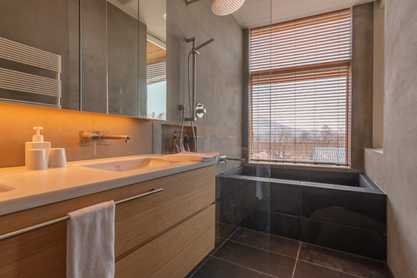 Silver Dream Bathroom with Bathtub | West Hirafu
