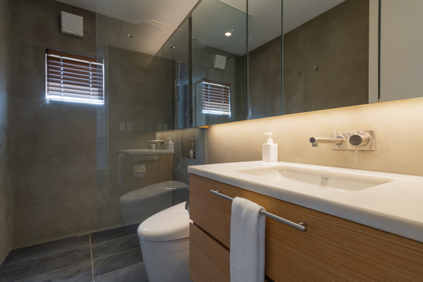 Silver Dream Bathroom with Shower | West Hirafu