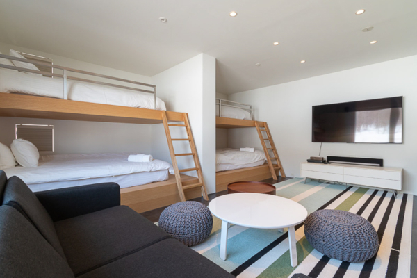 Silver Dream Bunk Beds with Sofa and TV | West Hirafu