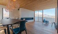 Silver Dream Dining Area with Wooden Floor | West Hirafu