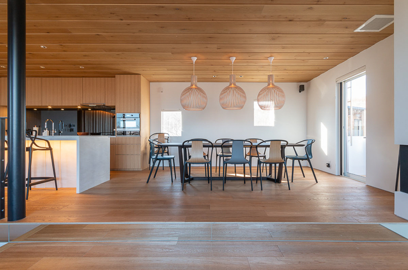 Silver Dream Kitchen and Dining Area | West Hirafu