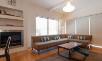 Snow Fox Living Area with Fireplace | Lower Hirafu